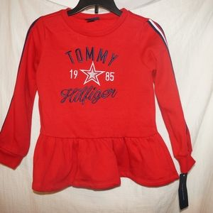 Tommy Hilfiger Red Girls top 6X